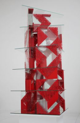 red tower — 2012<br>150 × 60 × 50 cm