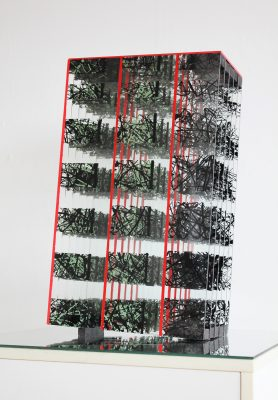 after the quakes — 2016<br>50 × 30 × 17 cm