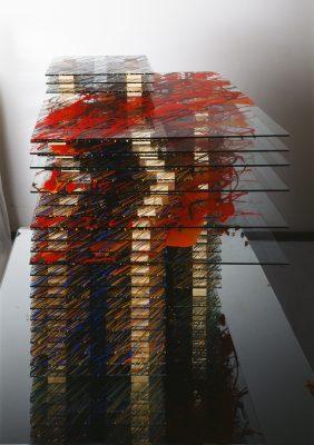 eleven — 2002<br>34 × 50 × 31 cm